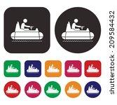 bumper car icon   dashing car... | Shutterstock .eps vector #209584432