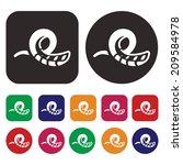slide icon   aqua park icon | Shutterstock .eps vector #209584978