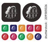 train ride icon   roller... | Shutterstock .eps vector #209585026