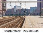 Platform With Railway Tracks I...