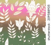 seamless floral background 1 | Shutterstock .eps vector #209588935