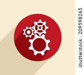 symbol settings. cogwheel | Shutterstock .eps vector #209598265