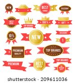 sale tags. old retro vintage... | Shutterstock .eps vector #209611036