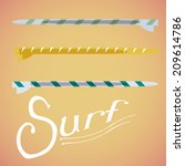 three surfboard with textures... | Shutterstock .eps vector #209614786