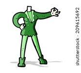 cartoon female vampire body ... | Shutterstock . vector #209615692