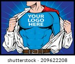 super company   text is on it's ... | Shutterstock .eps vector #209622208