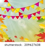 shiny autumn natural leaves... | Shutterstock .eps vector #209627638