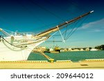View Of The Bow Of A Yacht In...