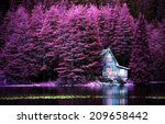 Purple Infrared Landscape With...