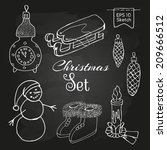 christmas toys and objects  ... | Shutterstock .eps vector #209666512