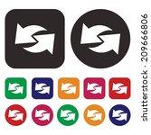 arrow icon   isolated arrow... | Shutterstock .eps vector #209666806