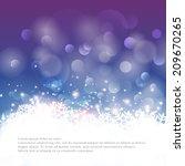 vector winter bokeh background... | Shutterstock .eps vector #209670265
