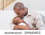 happy father spending time with ... | Shutterstock . vector #209683852