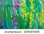 abstract art background. hand...   Shutterstock . vector #209695585