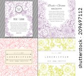 wedding invitation cards with... | Shutterstock . vector #209697112