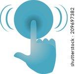 touch screen   Shutterstock .eps vector #209697382