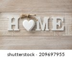 Home Sweet Home  Wooden Text O...