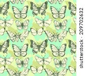 vector seamless pattern of... | Shutterstock . vector #209702632