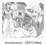 cartoon fairy tale  ... | Shutterstock . vector #209717866