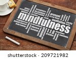 mindfulness word cloud on a... | Shutterstock . vector #209721982
