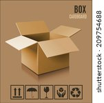 cardboard box icon. | Shutterstock .eps vector #209754688
