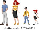 happy cartoon family. white... | Shutterstock .eps vector #209769055