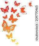 butterflies design | Shutterstock .eps vector #209770465