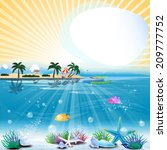 tropical sea theme background... | Shutterstock .eps vector #209777752