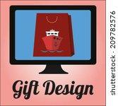 gift design | Shutterstock .eps vector #209782576