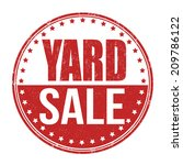 Yard sale grunge rubber stamp on white, vector illustration
