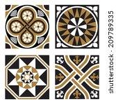 vintage ornamental patterns | Shutterstock .eps vector #209789335
