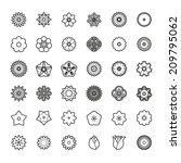 flower icons set | Shutterstock .eps vector #209795062