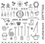 vector set of the tools and... | Shutterstock .eps vector #209797666