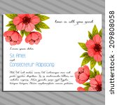 wedding invitation cards with... | Shutterstock . vector #209808058