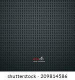 vector carbon fiber and dark... | Shutterstock .eps vector #209814586