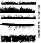 a set of grunge edges   Shutterstock .eps vector #20981800