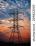pylon high voltage power line... | Shutterstock . vector #209822035