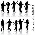 vector silhouettes dancing man... | Shutterstock .eps vector #2098225