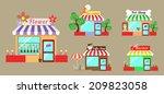 set shop service vector   Shutterstock .eps vector #209823058