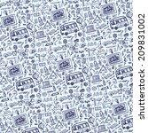 back to school  doodles... | Shutterstock .eps vector #209831002