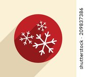 snowflake sign. the weather icon | Shutterstock .eps vector #209837386