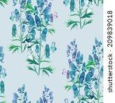 verbena seamless pattern | Shutterstock . vector #209839018
