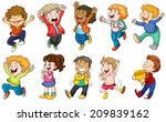 illustration of the happy kids... | Shutterstock . vector #209839162