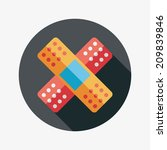 medical bandage flat icon with... | Shutterstock .eps vector #209839846