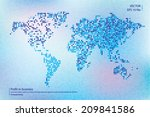 world vector map | Shutterstock .eps vector #209841586