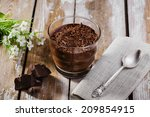chocolate mousse in a glass | Shutterstock . vector #209854915