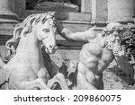 Crop Pf Trevi's Fountain