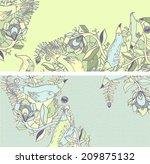 vector set of postcard size... | Shutterstock .eps vector #209875132
