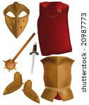armour of the knight of the crusader of times of king Arthur
