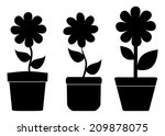 flower pots with shadow | Shutterstock .eps vector #209878075
